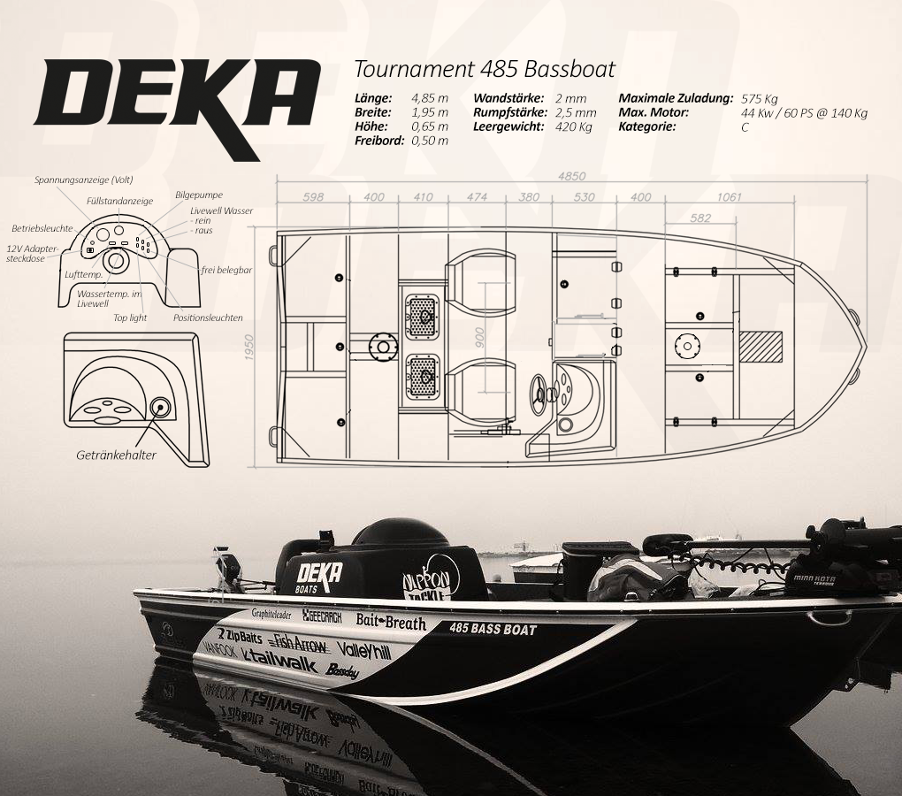 DEKA Tournament 485 Bassboat